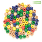 NEU Create it Easy Holzperlen-Mix, 15 mm, 14 Stk., bunt