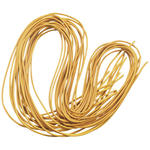 10er Pack, Lederband 2mm, 100 cm, goldgelb