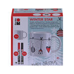Porzellan & Glas Stifte Set, WINTER STAR
