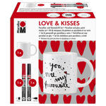NEU Porzellan & Glas Stifte Set, LOVE & KISSES