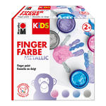 Marabu Kids Fingerfarbe 4x 100ml, Metallic