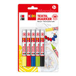 Marabu Kids Textilmarker Set, 3mm, 5 teilig