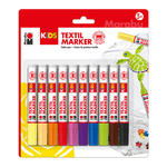 Marabu Kids Textilmarker Set, 3mm, 10 teilig