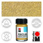 Marabu Porcelain Glitter-Gold, 15 ml