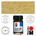 SALE Marabu GlasArt, 15 ml Glas, Glitter Gold