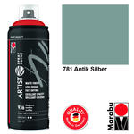 NEU Marabu Artist Spray Paint, 400ml, Antik Silber