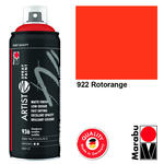 Marabu Artist Spray Paint, 400ml, Rotorange