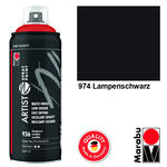 Marabu Artist Spray Paint 400ml, Lampenschwarz