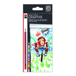 NEU Marabu Aqua Pencil Graphix 12 Stk FUNKY MONKEY