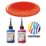 SALE Nerchau Window Art, 80 ml, Rot-Glitter