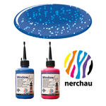 Nerchau Window Art, 80 ml, Blau-Glitter PREISHIT