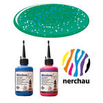 Nerchau Window Art, 80 ml, Grün-Glitter PREISHIT