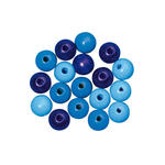 SALE Holzperlen, poliert, 12 mm �, 32 St., Blau