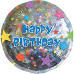 Folienballon Happy Birthday Konfetti, 45 cm