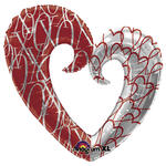 SALE Folienballon Love Heart, 76x81 cm