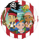 Folienballon Jake & the Pirates, 45 cm