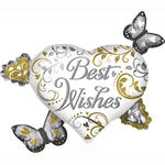 SALE Folienballon BestWishes Heart Cluster 76x66cm