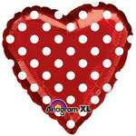Folienballon Red and Polka Dots, ca. 45 cm