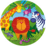 SALE Teller Jungle Animals, 23 cm, 8 Stk.