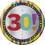 SALE Button 30th Birthday 15 cm