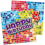 Servietten Birthday Blocks, 25x25 cm, 16 Stk.