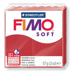 Fimo Soft Basisfarben 57 g, Weihnachtsrot