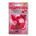Knöpfe-Mix, 30 g, Ton in Ton Mix Rot
