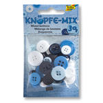 Knöpfe-Mix, 30 g, Ton in Ton Mix Blau
