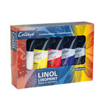 College  Linol Malkasten, Karton-Set, 5 x 75 ml