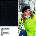 Strickgarn King Cotton, 50g Fb. 19, Schwarz
