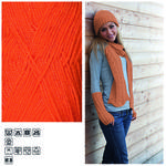Strickgarn ´Lisa´, 50g, Fb. 11, Orange