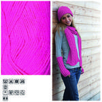 Strickgarn ´Lisa´, 50g, Fb. 30, Neonpink