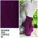 Strumpfwolle Hot Socks uni 50, 50g Fb.19 bordeaux