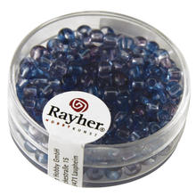 Rocailles, � 4 mm, Two Tone, 17g, blauviolett