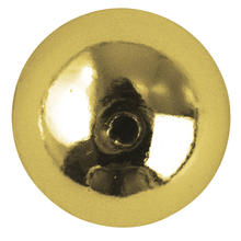 Plastik-Rundperlen, 6 mm ø, 35 St., gold
