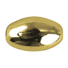Plastik-Olive, 6x10 mm, 15 St., gold