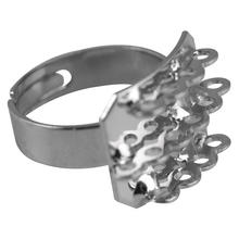 Fingerring m. 14 Ösen, 18x14mm, 1St., platin