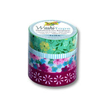 Washi Tape Klebeband Set, 4 Rollen, Floral