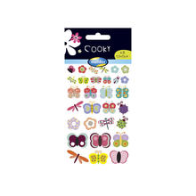 Cooky 3D-Sticker, Bunte Insekten