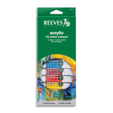 Reeves Acrylfarben-Set 12 Tuben à 10ml
