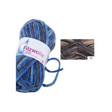 Filzwolle Color, 50g, Fb. 25, Braun-Mix