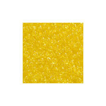 Rocailles - transparent, 20g, 2,5mm, Gelb