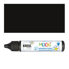Kreul Mucki Windowcolor Kontur Schwarz, 29ml