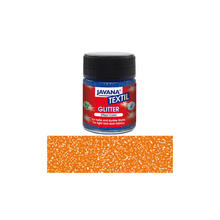 JAVANA Tex Stoffmalfarbe Glitter Orange 50ml