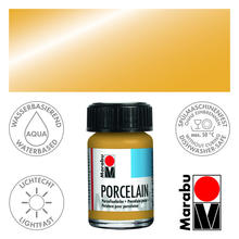 Marabu Porcelain Metallic-Gold, 15 ml