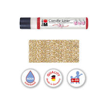 Marabu-Candle Liner 25 ml, Glitter-Gold