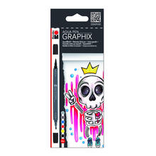 Marabu Aqua Pen Graphix 6 St KING OF BUBBLEGUM