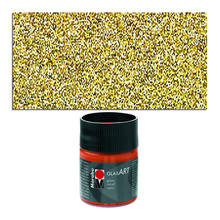 Marabu GlasArt, 50 ml Glas, Glitter-Gold