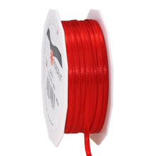 Satinband, 3mm x 50m, rot