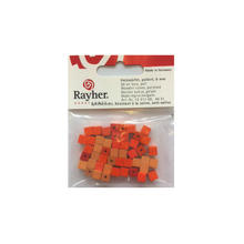 SALE Holzwürfel, poliert, 6 mm, 45 St., Orange